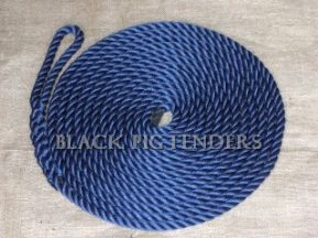 15 metre 12mm Navy Blue Mooring Line